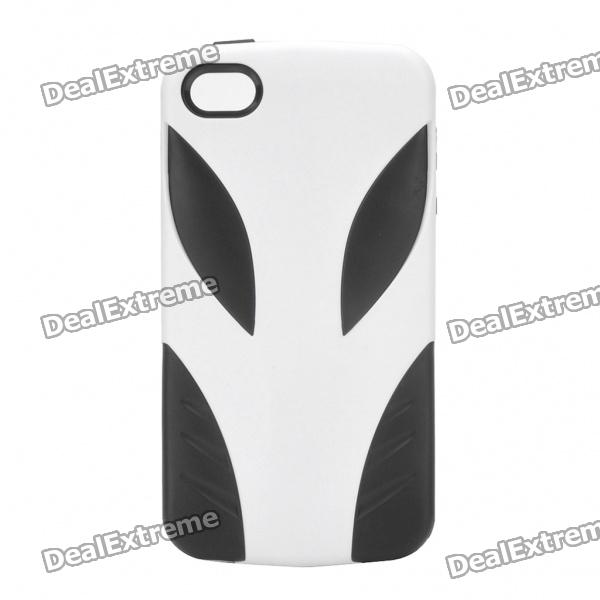 Coolous Alien Style Protective Silicon Case for iPhone 4/4S (White + Black)