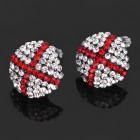 Glänzende National Flag of England Pattern Strass Ohrringe (Paar)