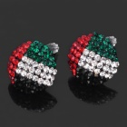 Stilvolle UAE National Flag Pattern Glänzende Strass Ohrringe (Paar)