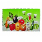 Kitchen Heat Resistant Oil-Proof Aluminium Foil Sticker - Vegetables Pattern
