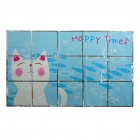 Kitchen Heat Resistant Oil-Proof Aluminium Foil Sticker - Cat Pattern