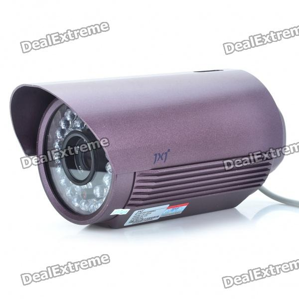 Water Resistant Fixed Focus 1/3 CCD Security Camera w/ 36-LED IR Night Vision (12mm Lens)