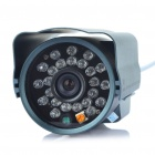 Water Resistant Fixed Focus 1/3 CCD Security Camera w/ 24-LED IR Night Vision (6mm Lens)