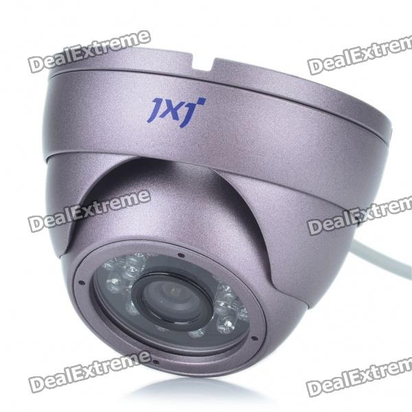Anti-Explosion Fixed Focus 1/4 Sharp CCD Security Camera w/ 24-LED IR Night Vision (8mm Lens)