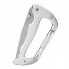 Multifunction Hiking Carabiner w/ Folding Knife - Silver