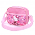 Cute Hello Kitty Pattern Aslant / Shoulder Bag - Pink