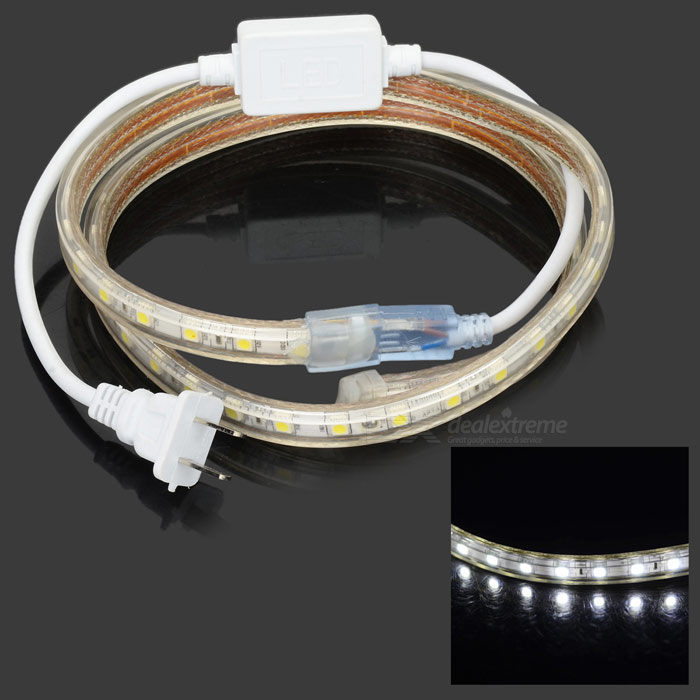 14.4W850LM 6500K 60x5050 SMD LED Flexible White Light Strip (1M-Length / 220V)