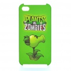 Plants vs Zombies Peas Striker Image Pattern Protective Plastic Back Case for iPhone 4S - Green