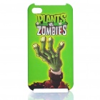 Plants vs Zombies Pattern Protective Back Case for iPhone 4S - Green