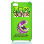 Plants vs Zombies Pattern Protective Plastic Back Case for iPhone 4S - Green
