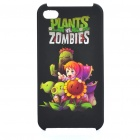 Plants vs Zombies Pattern Protective Plastic Back Case for iPhone 4S - Black