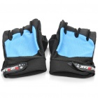 HotStar Sports Cycling Anti-Slip Half-Finger Gloves - Black + Blue