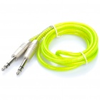 6.35mm Male to 6.35mm Male Audio Cable - Fluorescent Green (150CM-Length)