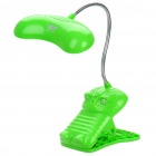 Rechargeable 2-Model 19-LED White Light Flexible Neck Desk Lamp w/ Clip (110~220V / 2-Flat-Pin Plug)