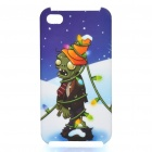 Plants vs Zombies Pattern Protective Plastic Back Case for iPhone 4S - White + Blue