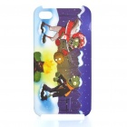 Plants vs Zombies Pattern Protective Plastic Back Case for iPhone 4S - Yellow + White + Blue