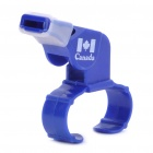 Professional Plastic Referee Whistle with Fingergrip - Blue