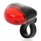 Resistente al agua 3-Mode LED rojo Bicycle Safety Luz trasera w / Bike Mount (2 x AAA)
