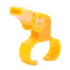 Professional Plastic Referee Whistle with Fingergrip - Yellow
