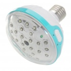 Wiederaufladbare E27 24-LED White Light Bulb w / Remote Controller (AC 110 ~ 220V)