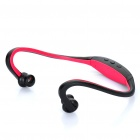 Fashion Bluetooth Handsfree Headset Earphone with Microphone - Black + Red