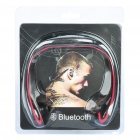 Bluetooth Handsfree Headset Earphone with Microphone - Black + Red