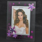 "6 ""Elegante Glass Photo Frame"