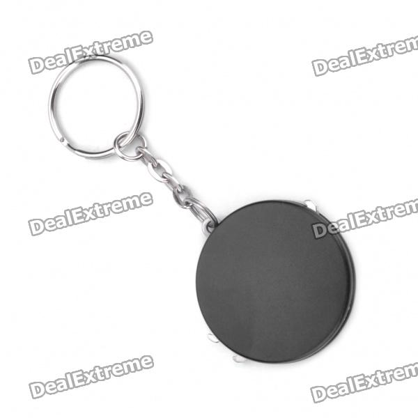 Multi-Function Round Shaped Knife + Bottle Opener + Scissors Keychain