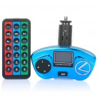 "1,0 ""LCD Car MP3 Player FM Transmitter w / USB / SD / TF Slot - Blue (DC 12 ~ 24V)"
