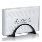 "USB 2.0 Hard Disk Drive Enclosure for 3.5"" SATA HDD - Silver"