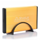 "USB 2.0 Hard Disk Drive Enclosure for 3.5"" SATA HDD - Gold"
