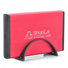 "USB 2.0 Hard Disk Drive Enclosure for 3.5"" SATA HDD - Red"