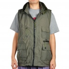Multi-Function Taslon Fabric Photography Vest - Dark Green (Size-XXL)