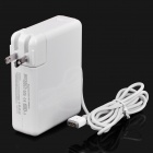 Replacement 85W Power Supply AC Adapter for Apple Laptop - White (100-240V / 2-Flat-Pin Plug)