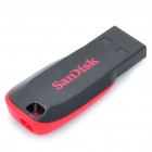 SanDisk Cruzer Blade USB Flash Drive - Black + Red (16GB)