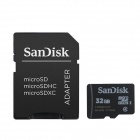 Genuine SanDisk Micro SDHC TF Card with SD Adapter (32GB)