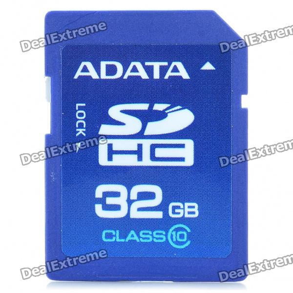 Genuine ADATA SDHC Class 10 SD Card - Blue (32GB)