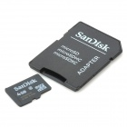 Genuine SanDisk Micro SDHC TF Card with SD Adapter (4GB)