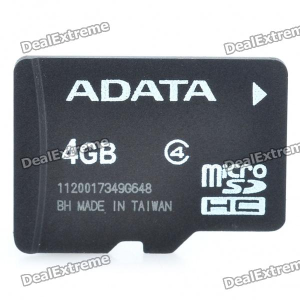 Genuine ADATA Micro SDHC Class 4 TF Card (4GB)