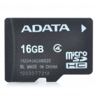 Genuine ADATA Micro SDHC Class 4 TF Card - Black (16GB)