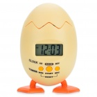 "Creative 1.5"" LCD Duck Egg Shaped Alarm Clock Timer - Light Yellow (3 x AAA)"