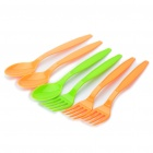 Picnic Tools Set with Carrying Bag for 3 People (Green + Orange)