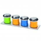 Stainless Steel Colored Spice Jars Kitchen Gadget (Set of 4)
