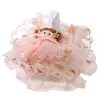 Elegant Moppet Pink Lace Tissue Paper Skin (Round)
