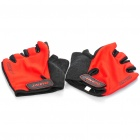 GIANT Cycling Anti-Slip High Elasticity Half-Finger Gloves - Red (Size-L / Pair)