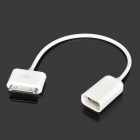 Designer' Universal Decoding iPad 30pin to USB Female Adapter Cable - White (15cm)