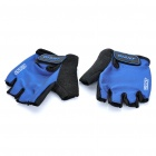 Sport Cycling Anti-Slip Half-Finger Gloves - Blue + Black (L-Size/Pair)