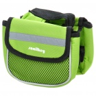 Bike Bicycle Frame Pannier Front Tube Canvas Bag - Green