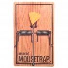 Mousetrap Pattern Rubber Mouse Pad - Brown