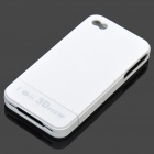 IOK 3D View Protective Plastic Back Case w/ 3D Lens for iPhone 4 - White